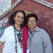Amina Mama and Barbara in Belfast