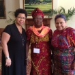 Barbara Ransby with Rigoberta Menchu and sister from DRC in Belfast