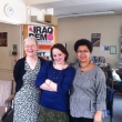 Barbara with Hazel Waters and Liz Fekete