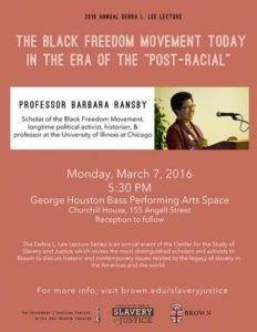 2016 Debra L. Lee Lecture with Barbara Ransby